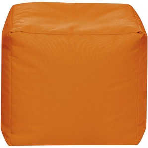 Carryhome Sitzwürfel Orange , Textil , 40x40x40 cm