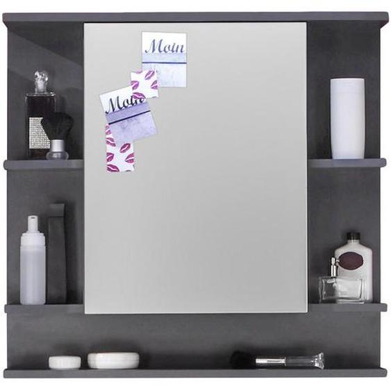 Carryhome Spiegelschrank Grau , Holzwerkstoff , 1 Fächer , 72x76x20 cm