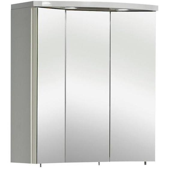 Carryhome Spiegelschrank Weiß , Glas , 6 Fächer , 55x63x20 cm