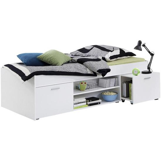 Carryhome Stauraumbett Weiß , Kunststoff , 2 Fächer , 90 cm