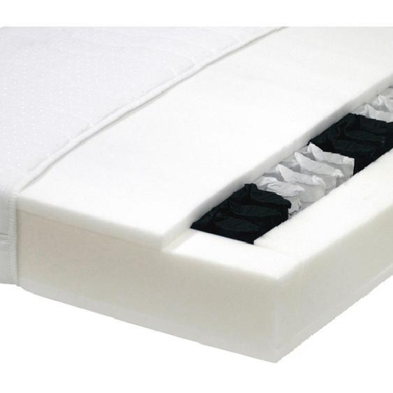 Carryhome Taschenfederkernmatratze Höhe ca. 19 cm , Weiß , Textil , H3=fest ab ca.80kg , 90x200 cm