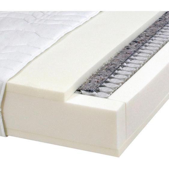 Carryhome Taschenfederkernmatratze Höhe ca. 25 cm , Weiß , Textil , 100x200 cm