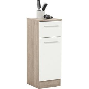 Carryhome: Unterschrank, Holzwerkstoff, Weiß, B/H/T 30 81 33