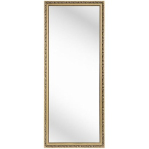 Carryhome Wandspiegel , Gold , Glas , Eukalyptusholz , massiv , rechteckig , 70x170x3 cm , Wohnspiegel, Wandspiegel