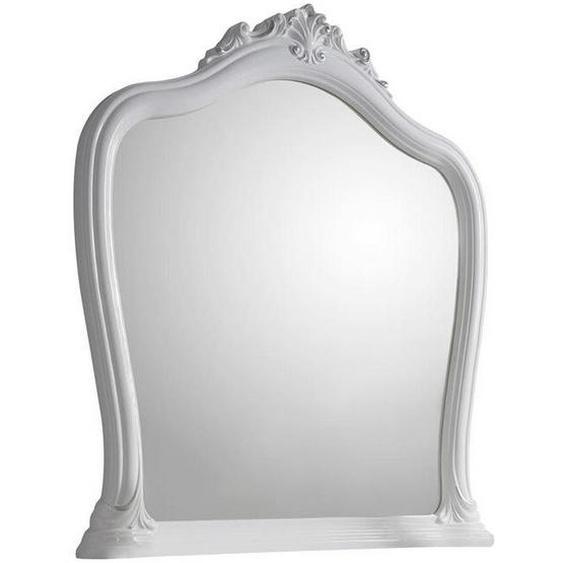 Carryhome Wandspiegel Weiß , Glas , 92x100x7 cm