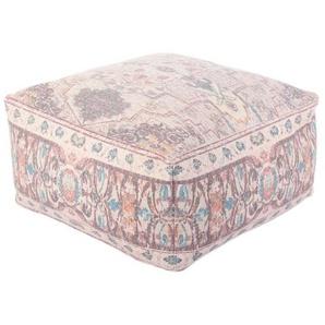 Casa Moro Pouf »Indischer Sitzpouf Nadi mit Füllung 60x60x30 cm (B/T/H) quadratisches Sitzkissen Handmade Sitzwürfel mit Ethno Design«, Handmade, MA6524