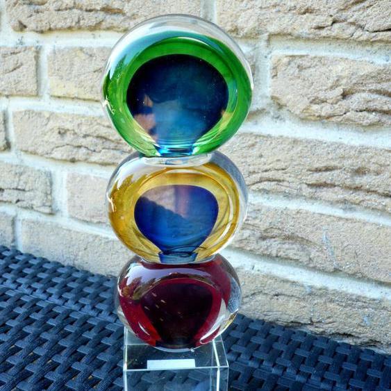 Casablanca Design Glasskulptur balls Blau/grün/rot 27057 Geschenk