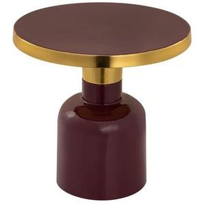 Casamia Beistelltisch »Beistelltisch rund ø 45 H 45 cm Dekotisch Lampentisch Sofatisch Glam Tisch Metall und Emaille«