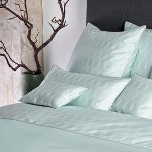 CB1882 Bettbezug Lace, (1 St.), Linienmuster moderne Spitze B/L: 155 cm x 220 grün Mako-Satin-Bettwäsche Bettwäsche nach Material Bettwäsche, Bettlaken und Betttücher
