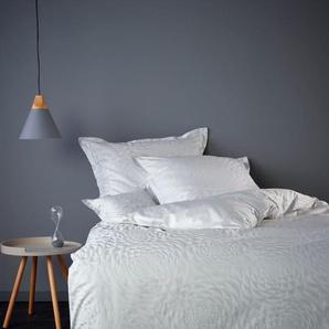 CB1882 Bettbezug Shade, (1 St.), verschiedene große dreidimensional wirkende grafische Blumen B/L: 155 cm x 220 grau Mako-Satin-Bettwäsche Bettwäsche nach Material Bettwäsche, Bettlaken und Betttücher