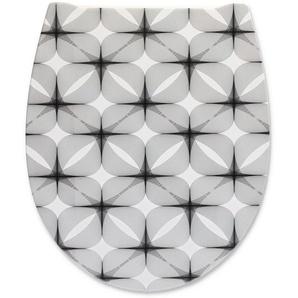 cedo WC-Sitz Graphic schwarz, weiß