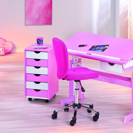 Celia / Schreibtisch Pc-tisch Bürotisch Kiefer Rosa Weiß Lackiert