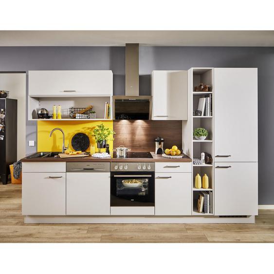 Celina Küchenleerblock Soft-Close-System , Grau, Nussbaum