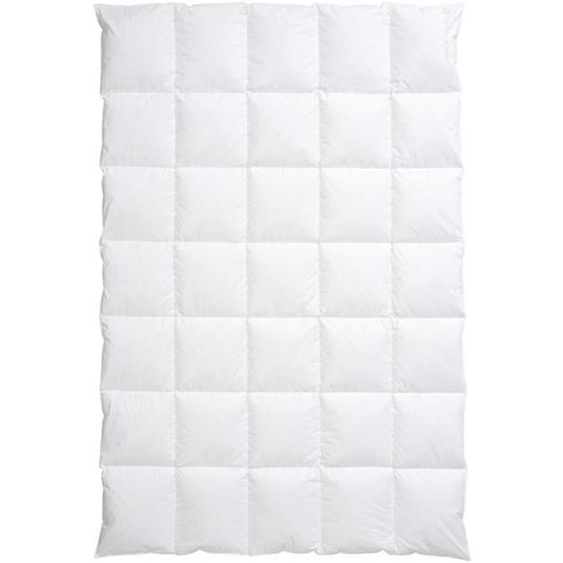 Centa-Star Daunendecke Harmony 155/220 cm , Weiß , Textil , 155 cm