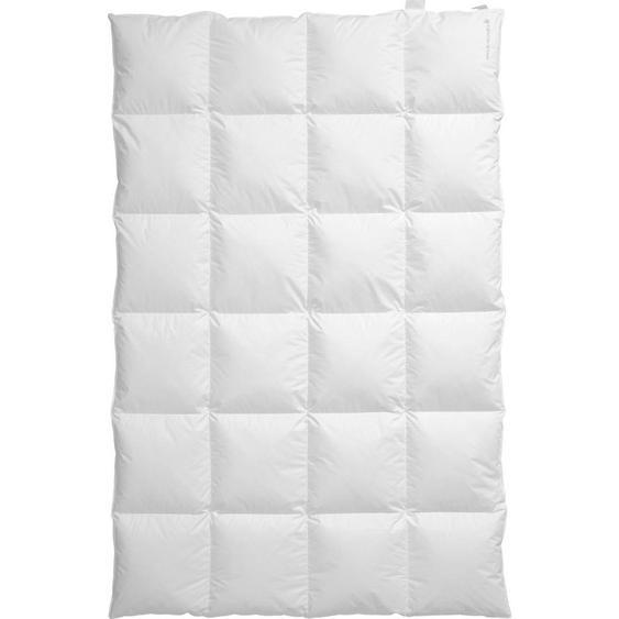 Centa-Star Daunendecke Silence 135/200 cm , Weiß , Textil , 135 cm