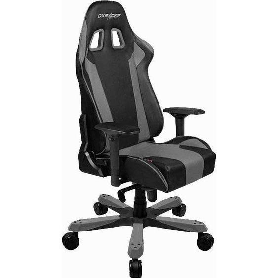 Chair, grau, Material Kunstleder, DXRacer, mit Armlehnenverstellung