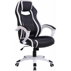 Racing / Gamer Chair »Silver« schwarz, schwarz