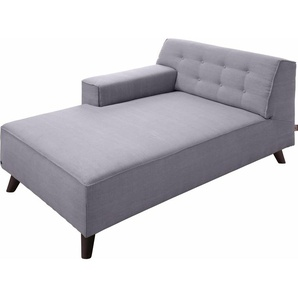 TOM TAILOR Chaiselongue , lila, Armlehne links, 104cm, im modischen Retrostil, »NORDIC CHIC«, ,