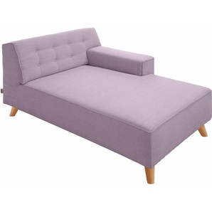 TOM TAILOR Chaiselongue , lila, Armlehne rechts, 104cm, im modischen Retrostil, »NORDIC CHIC«, ,