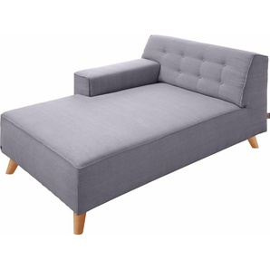 TOM TAILOR Chaiselongue »NORDIC CHIC«, lila, Armlehne links, 104cm, im modischen Retrostil, ,