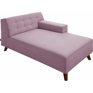 TOM TAILOR Chaiselongue »NORDIC CHIC«, lila, Armlehne rechts, 104cm, im modischen Retrostil, ,