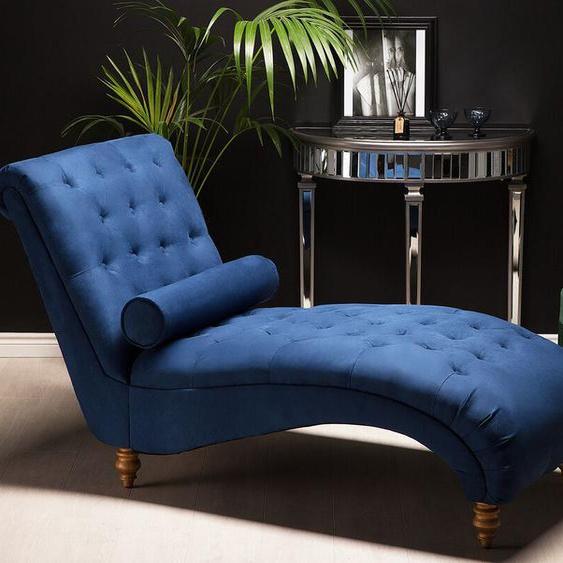 Chaiselongue Polsterbezug blau MURET