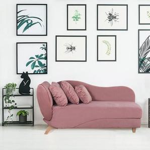 Chaiselongue rosa mit Bettkasten MERI