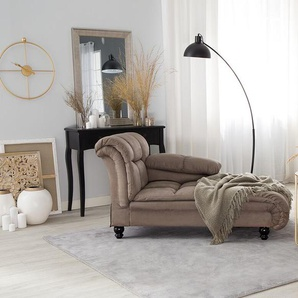 Chaiselongue taupe linksseitig LORMONT