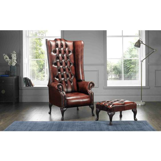 Chesterfield-Sessel Colucci mit Hocker