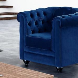 Chesterfield Sessel In Blau Preisvergleich Moebel 24