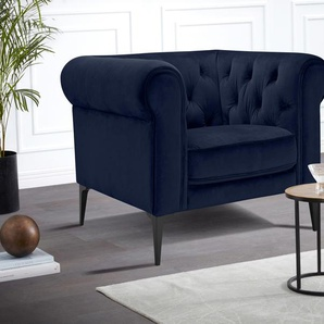 Chesterfield-Sessel »Tobol«, blau, Premium collection by Home affaire