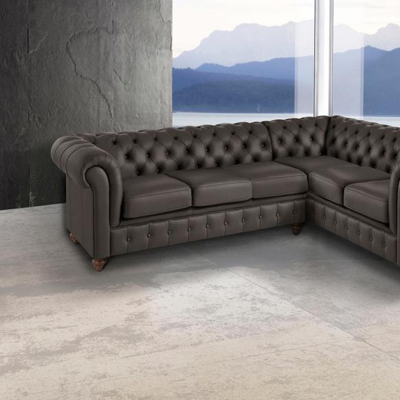 Chesterfield-Sofa, braun »Chesterfield«, Premium collection by Home affaire»Chesterfield«