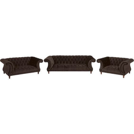 Chesterfield-Sofa, braun, Material Buche / Nussbaum »Isabelle«, Max Winzer®»Isabelle«