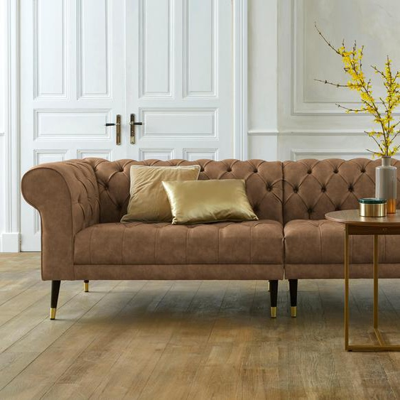Chesterfield-Sofa, braun »Tinnum«, Guido Maria Kretschmer Home&Living»Tinnum«