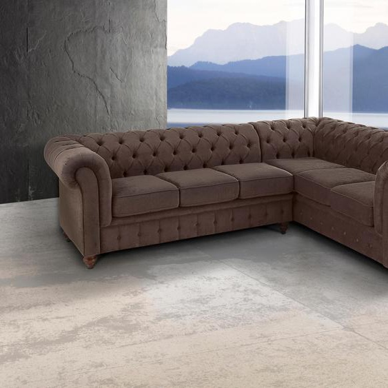 Chesterfield-Sofa »Chesterfield«, braun, Premium collection by Home affaire»Chesterfield«