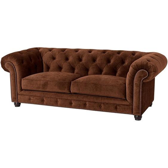 Chesterfield-Sofa, FSC®-zertifiziert, braun »Old England«, Max Winzer®»Old England«