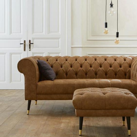 Chesterfield-Sofa »Tinnum«, braun, Guido Maria Kretschmer Home&Living»Tinnum«