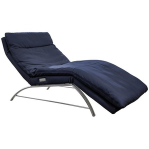 Chilliano Liege Echtleder Blau , Leder , 1-Sitzer , 95x91-110x170-190 cm