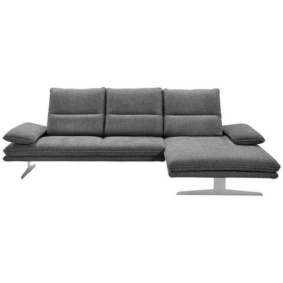 Chilliano Wohnlandschaft Grau Webstoff , Textil , 4-Sitzer , 164 cm