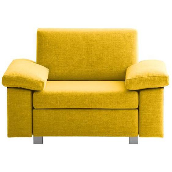 chillout by Franz Fertig Schlafsessel Plaza Gelb Webstoff mit Schlaffunktion/Bettkasten 118x78x82 cm (BxHxT)