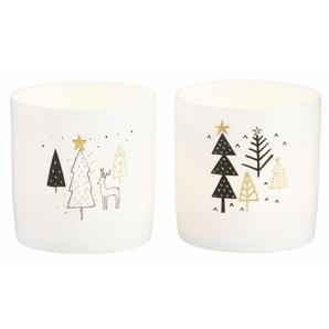 CHRISTMAS GOODS by Inge Teelichthalter (Set, 2 Stück), aus Keramik