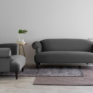 Claudia 3-Sitzer Sofa, Samt in Zinngrau