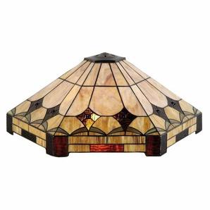 Clayre & Eef Tiffany Lumi Lamp Lampenschirm Ø 58 Cm 6 Eckig Glas