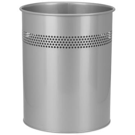 CLEAN III - Mülleimer Silber