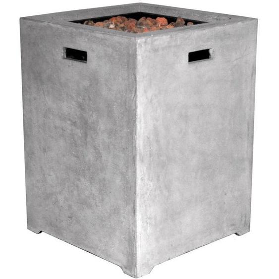 Clifton Terrassenfeuer, Grau, Keramik 48 x 48 cm
