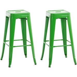 2er Set Barhocker Joshua-grün