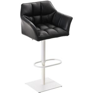 Barhocker Damaso -schwarz-Metall matt weiß - BAUWERK MANUFACTURE