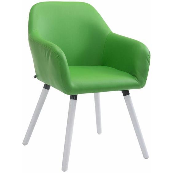 CLP - Besucherstuhl Achat V2 Kunstleder-grün-Weiß (Eiche)