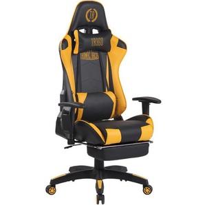 Bürostuhl Turbo XFM Kunstleder mit Massagefunktion-schwarz/gelb - CLP