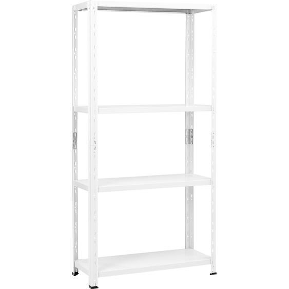CMI Metall-Steckregal/Kellerregal Weiß 150 x 75 x 30 cm